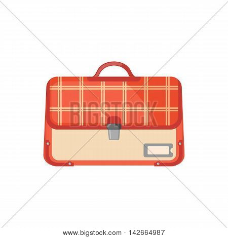 Schoolbag icon in flat style isolated on white background. Vector illustration.