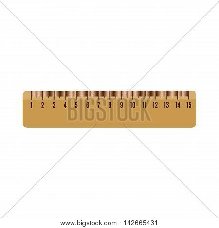 Ruler icon in flat style isolated on white background. Vector illustration