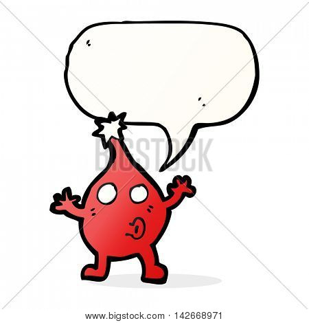 cartoon funny christmas character with speech bubble