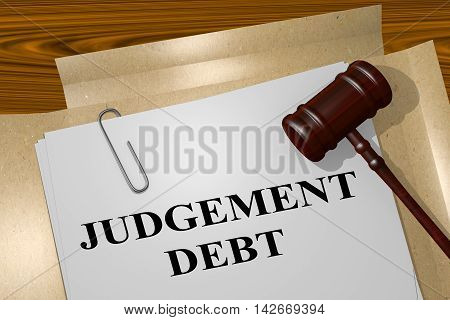 Judgement Debt - Legal Concept