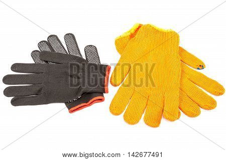 Work gloves isolated on a white background.