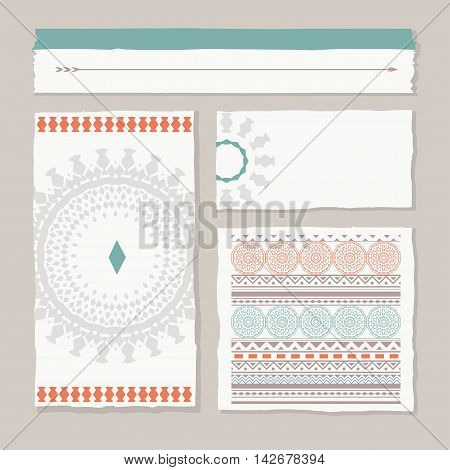set of different tribal banners and templates, vector design