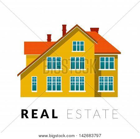 Real estate vector illustration on white background