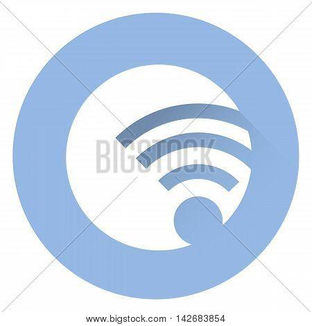 Stylish wi fi icon . EPS 10, Vector icon