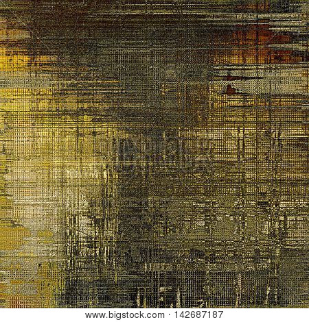 Old background with grunge decorative elements. Retro composition for your design. With different color patterns: yellow (beige); brown; gray; red (orange); black