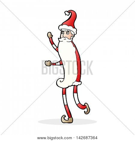 cartoon skinny santa