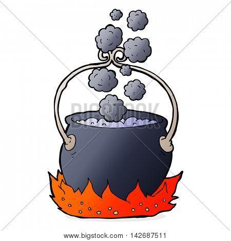 cartoon witch's cauldron