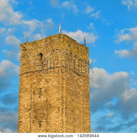 Tower in French Salon-la-tour in the Limousin