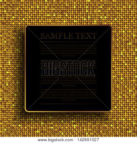 Background with shiny gold sequins. Sparkle glitter background. Glittering sequins wall.