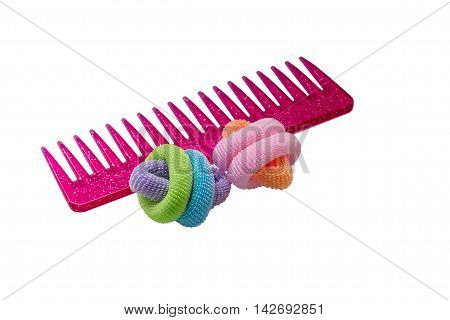 colored rubber bands for hair with comb