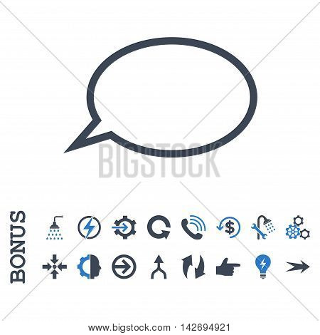 Hint Cloud glyph bicolor icon. Image style is a flat pictogram symbol, smooth blue colors, white background.