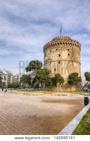 White Tower (Lefkos Pyrgos), Thessaloniki, Macedonia, Greece