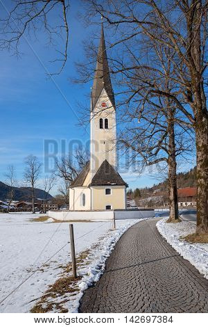 pilgrimage church sankt leonhard sightseeing in upper bavaria early springtime