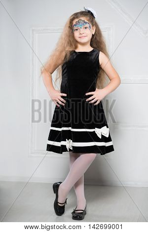 Young Girl In Black Dress