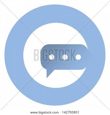 Stylish messange icon . EPS 10 Vector Icon