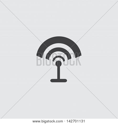 WiFi antenna icon in a flat design in black color. Vector illustration eps10