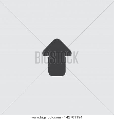 Arrow up icon in a flat design in black color. Vector illustration eps10