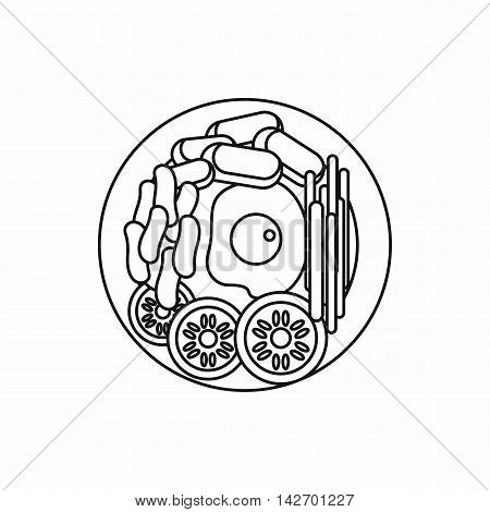 Dish of korean food icon in outline style isolated on white background vector illustration