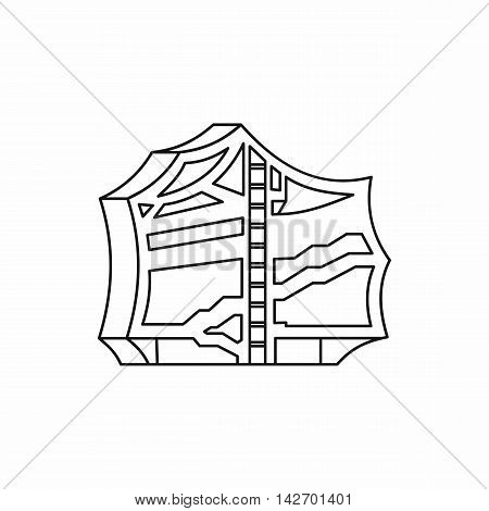 Kimchi, traditional korean food icon in outline style isolated on white background vector illustration