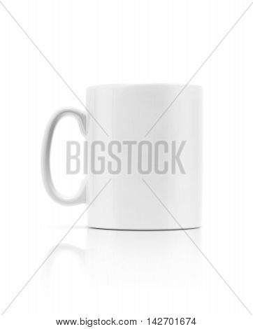 white ceramic mug isolated on white background with clipping path