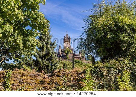Reichsburg castle in Cochem on the Mosel.