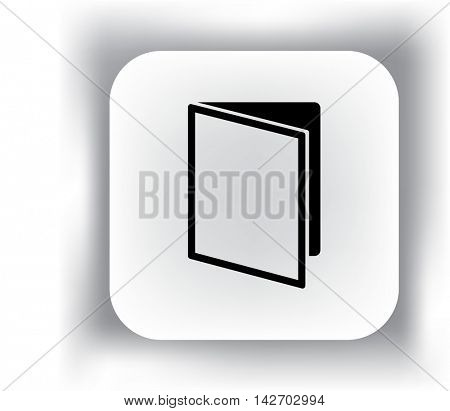 Flat icon. Notepad book.