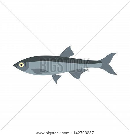 Herring icon in flat style isolated on white background. Sea creatures symbol