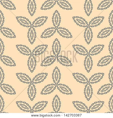Abstract seamless pattern, repeating flower abstract chain