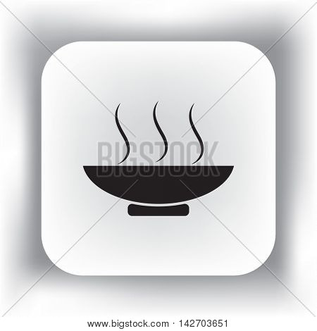 Flat icon. Hot lunch. The dish with the food.