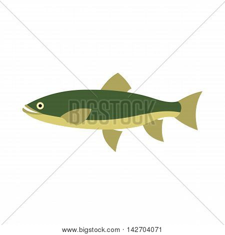 Smelt icon in flat style isolated on white background. Sea creatures symbol