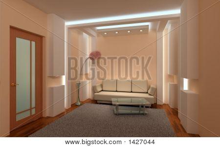 3D Interior Lounge.