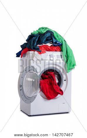 Washing machine isolated on white background