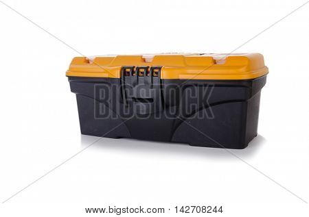 Toolkit box isolated on the white background