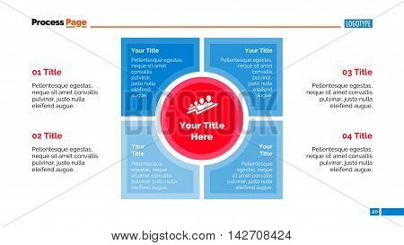 Four stages infographic diagram. Element of presentation, diagram, chart. Concept for business infographics, templates, presentation reports. Can be used for topics like strategy, management, marketing