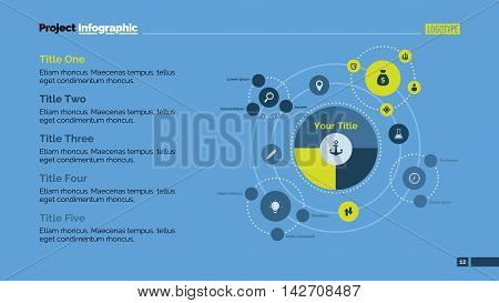 Model of Universe metaphor diagram. Element of presentation, graph, diagram. Concept for business template, infographics, report. Can be used for topics like analytics, marketing, science, education