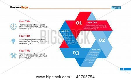 Three steps knot diagram. Element of presentation, step diagram, creative chart. Concept for infographics, templates, reports. Can be used for topics like strategy, marketing analysis, management