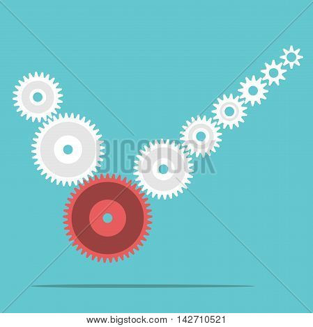 Cogs Forming Check Mark
