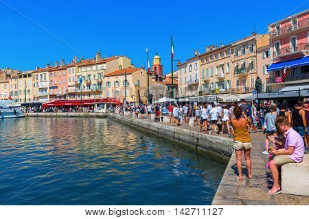 View In The Harbor Of Saint Tropez, France