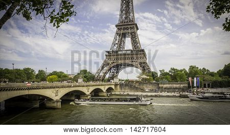 May 23, 2016 - Paris, France:  Tourists are enjoying fine spring weather along the Seine River ahead of the heavy summer tourist crowds and summer heat waves.