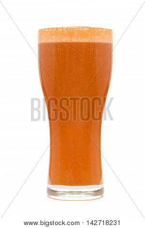 tasty Beer Glass Isolated over White background