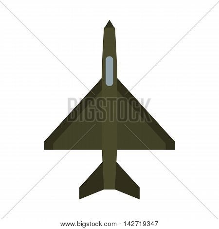 Military aircraft icon in flat style on a white background