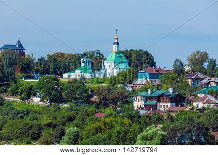 Small Houses And Orthodox Church At Vladimir City