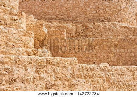Ancient stone sand wall brick background texture