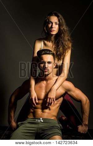 Sexy Young Couple In Studio