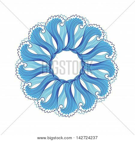 Abstract blue interesting element on a white background
