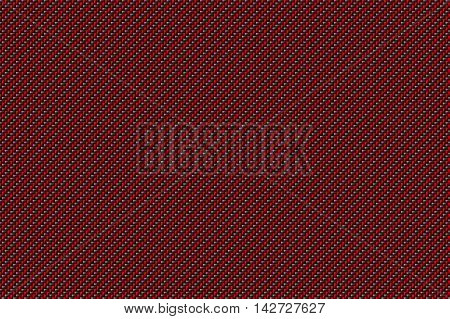 red and black carbon fiber background and texture for material design. 3d illustration.