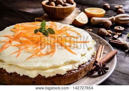 Carrot Cake With Mascarpone