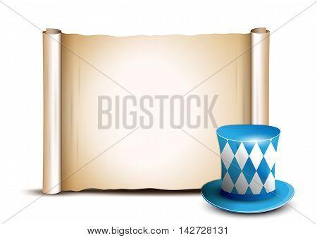 Oktoberfest celebration design with Bavarian hat. Oktoberfest background with place for text.