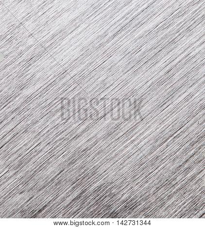 Metal Texture Background. Macro Photo Of Brushed Aluminium. Closeup