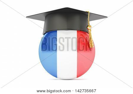 education in France concept 3D rendering isolated on white background